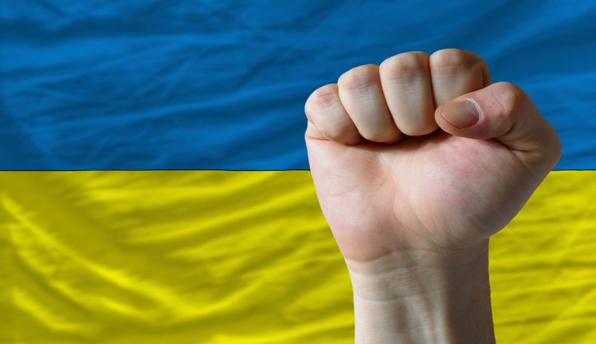 ukraineflagfist