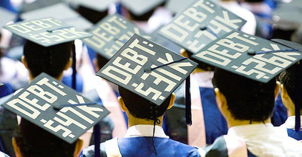 student debt on grad cap
