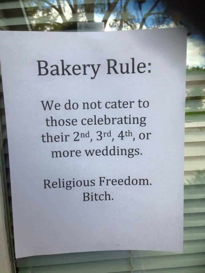 bakery refuses service for divrocees