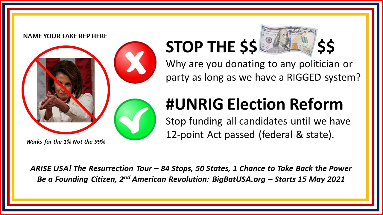STOP THE $DOLLAR$ Campaign: #UNRIG Elections and Flush the Corrupt DNC and GOP 5